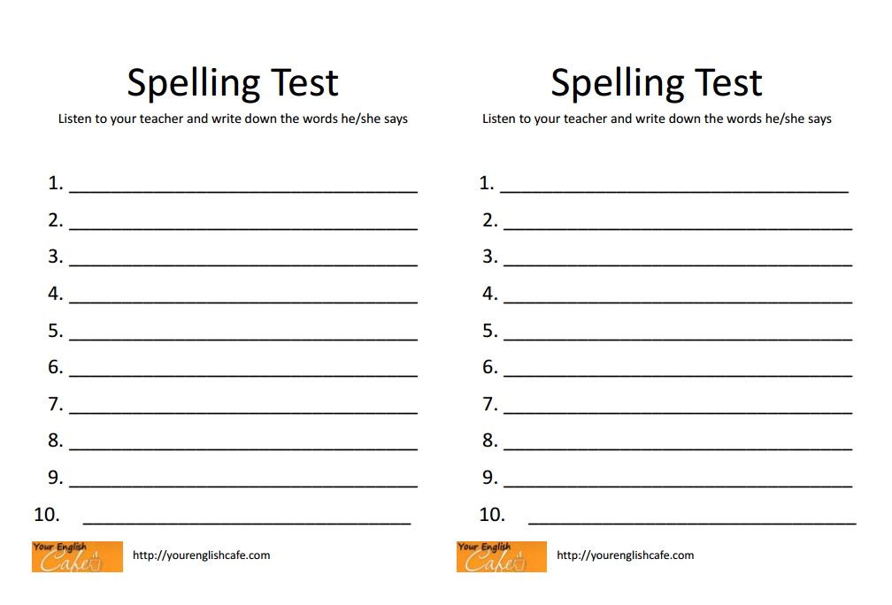 2nd grade spelling test paper words their way assessment for Test templates for teachers