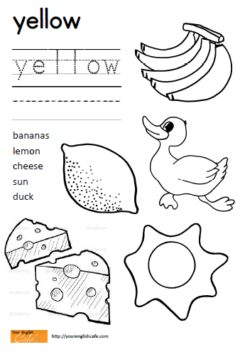 Color Yellow Worksheets